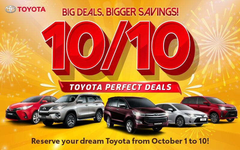 The countdown begins! Toyota is offering great deals until 10/10!