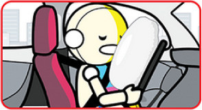 seatbelts and the airbags protect the occupants