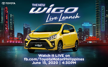 Toyota Motor Philippines hosts first digital launch with the New Wigo on June 15